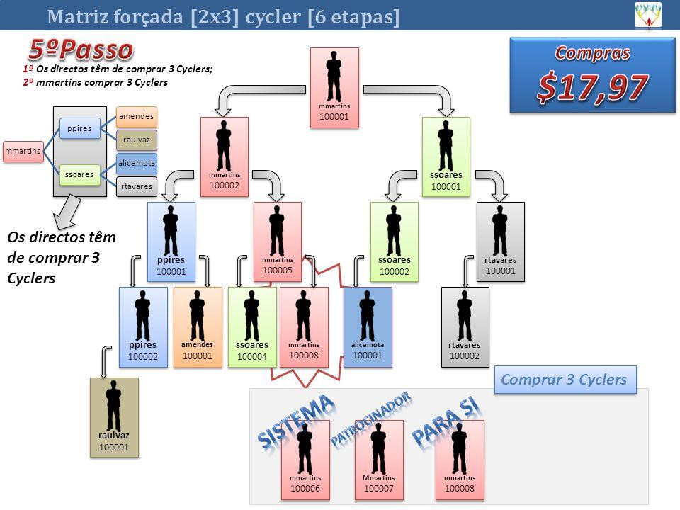 $17,97 5ºPasso Sistema Para si Matriz forçada [2x3] cycler [6 etapas]